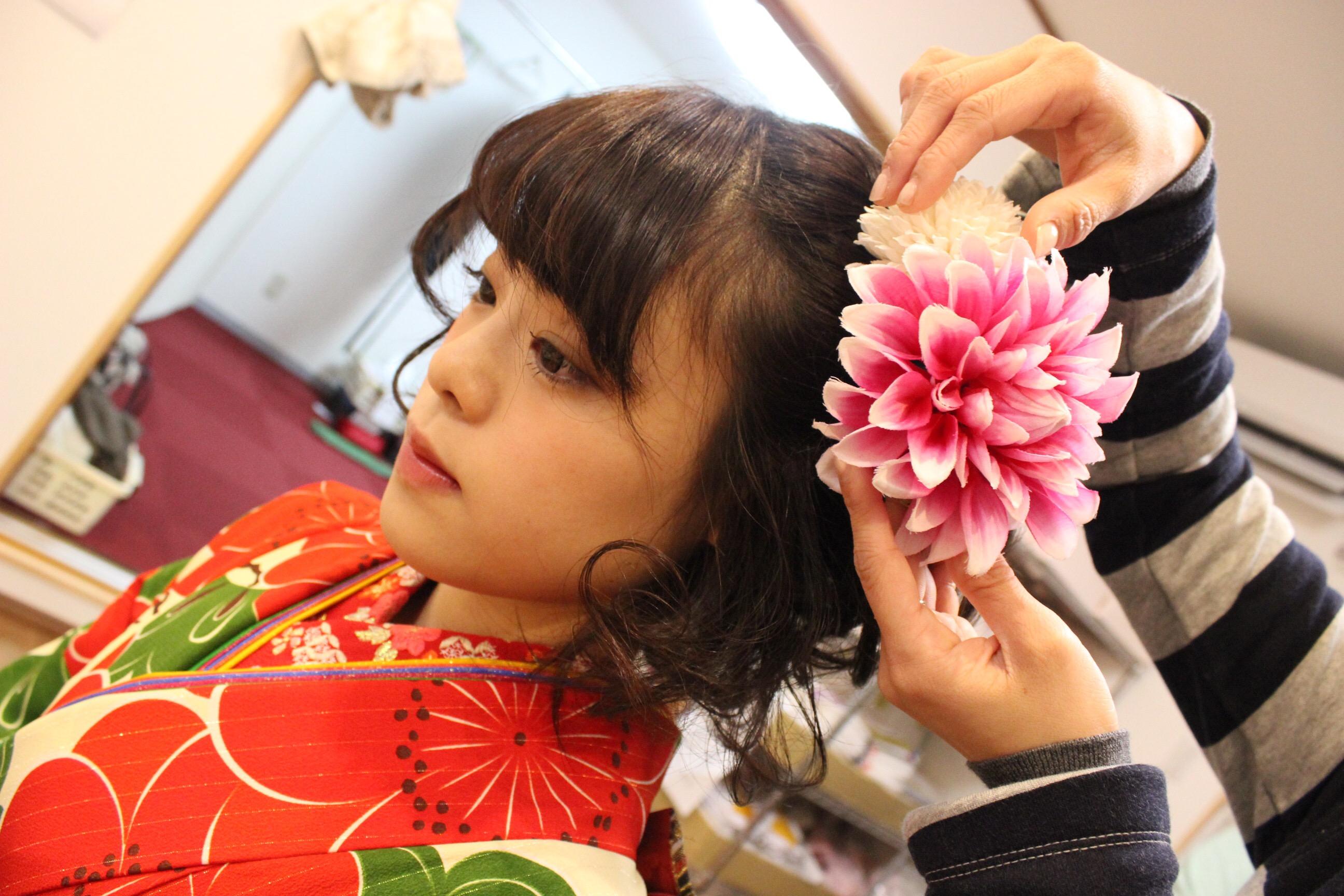 振袖のヘアメイク