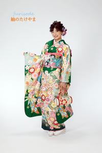 新作振袖 古典柄 牡丹 桜 熨斗目_053