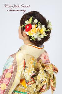 成人式 ヘアスタイル 花