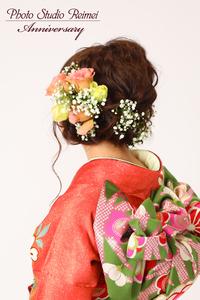 成人式ヘアースタイル 花